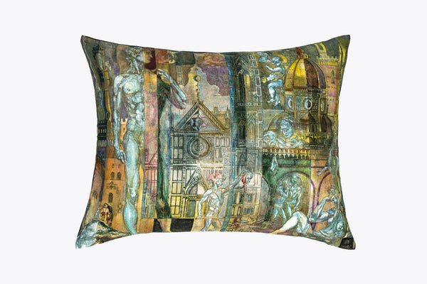 Decorative throw pillow cover - art inspired design