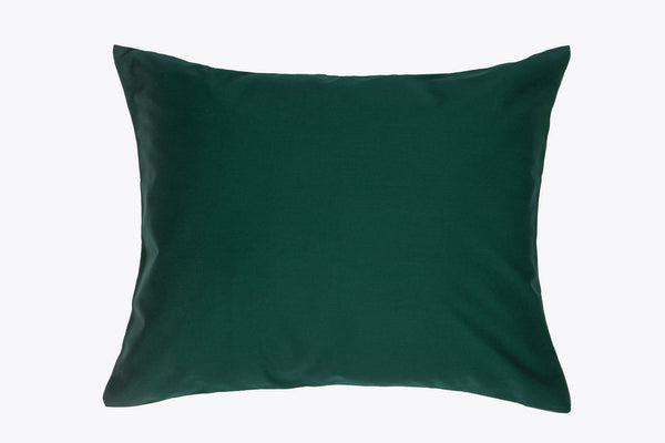 Forest green Decorative throw pillow cover back