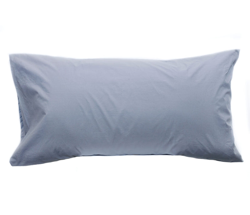 grey percale pillow cases