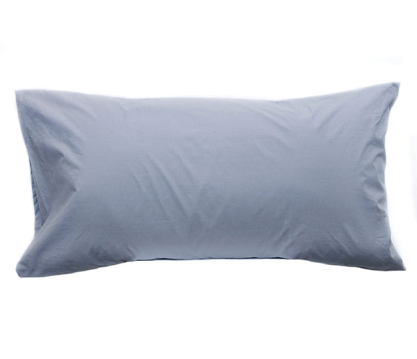 grey percale pillow cases and shams
