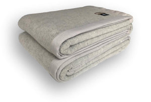 Soft Grey 100% Merino Wool Blanket