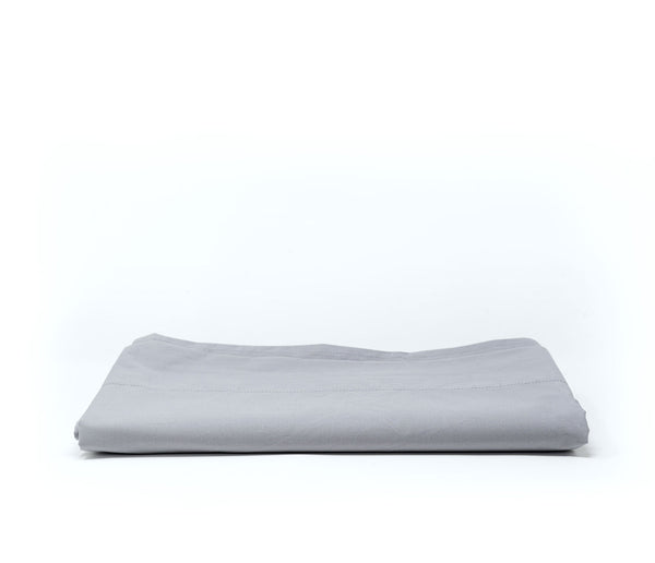 grey cotton percale flat sheet