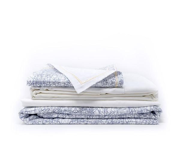 Kaleidoscope Monochrome Ephrussi sateen cotton bed linen set