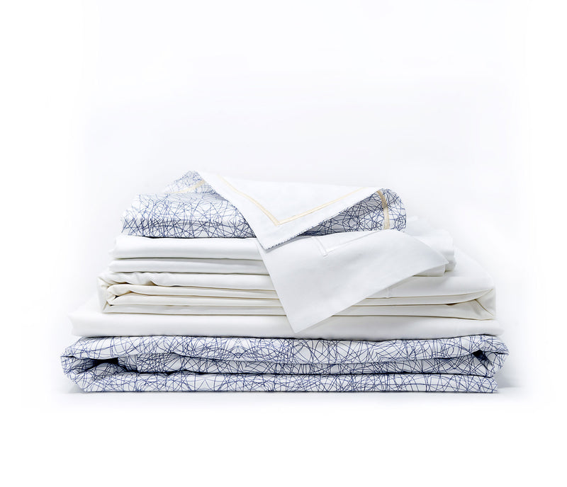 Kaleidoscope Monochrome Prestige Sateen Sheet Bundle
