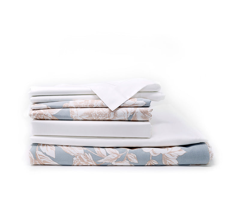 Golden Peonies Prestige Sateen Sheet Bundle
