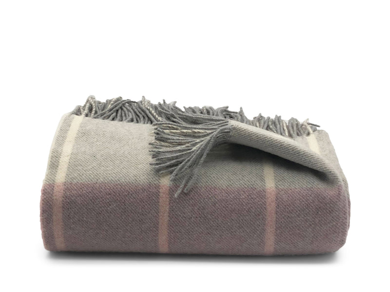 Tartan superfine merino wool and cashmere throw