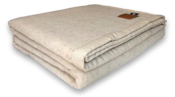 Seashell beige 100% Lambswool Blanket