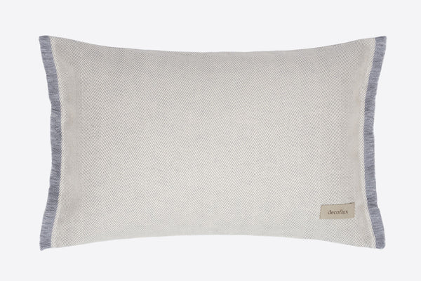 ACASA Grey Herringbone Linen Decorative Pillow Cover