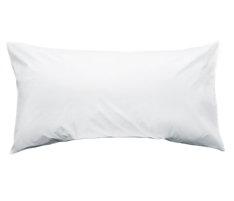 White percale pillow cases