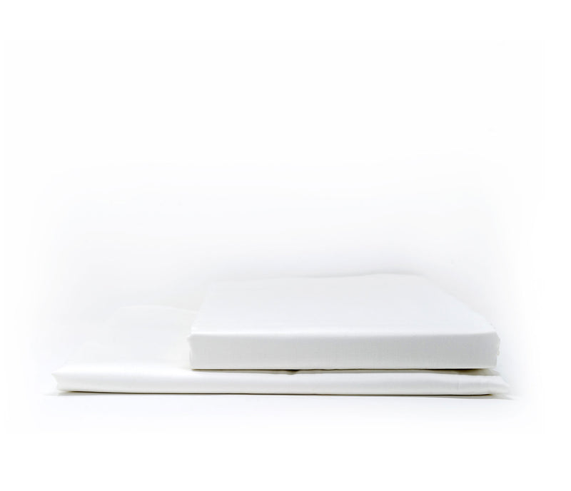 ACASA Pure white cotton sateen fitted sheet