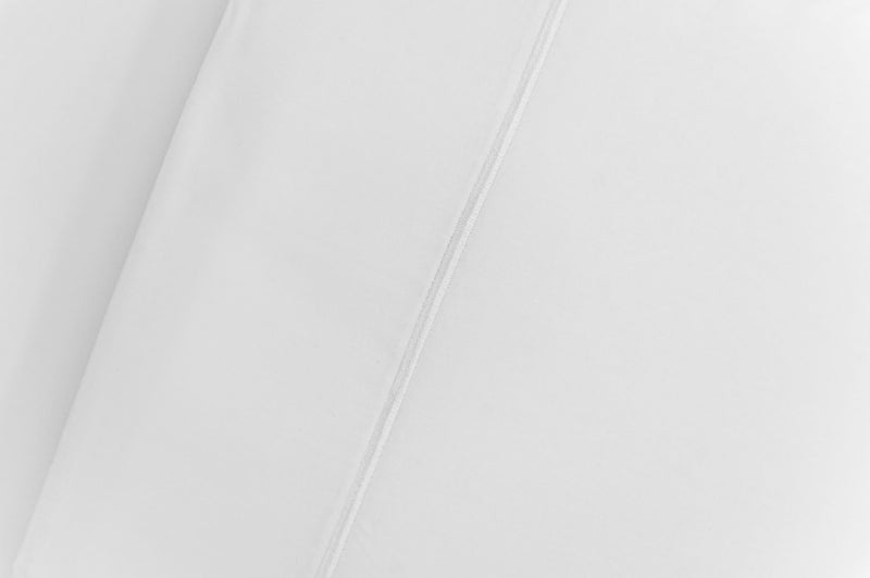 ACASA pure white sateen flat sheet folding