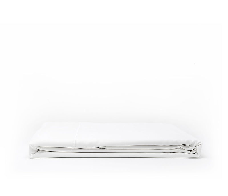 ACASA pure white sateen flat sheet