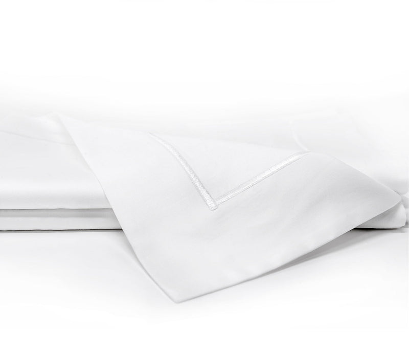 satin pillowcase with emboidered border - ACASA sateen pillowcase