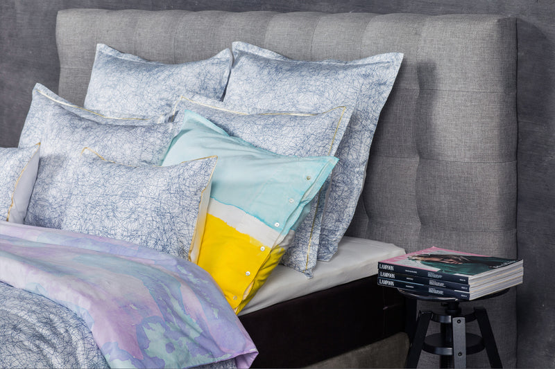 ACASA kaleidoscope monochrome - luxury bed linens