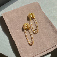 Load image into Gallery viewer, Safety Pin Diamond Earrings
