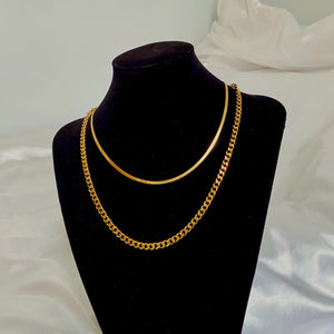 Flat Snake Necklace - 18""