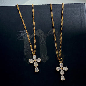 Flor Cross Necklace