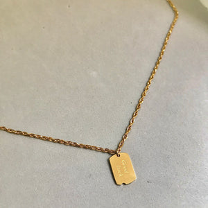 GoodLuck Tag Necklace