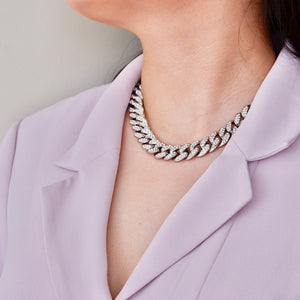 Silver LA Diamond Necklace