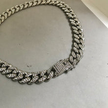 Load image into Gallery viewer, Silver LA Diamond Necklace