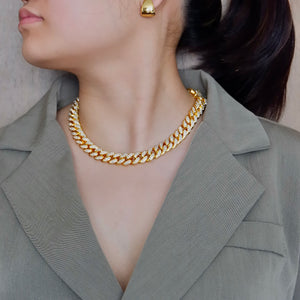 Gold Downtown Diamond Necklace