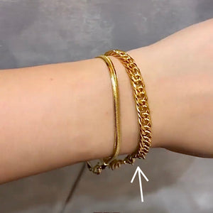 Semi-Thick Cuban Chain Bracelet