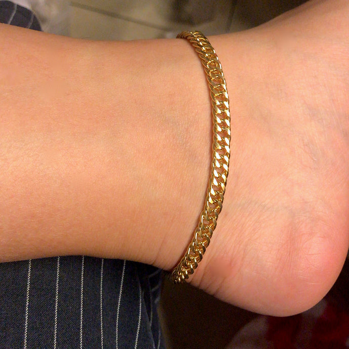 Semi-Thick Curb Chain Anklet