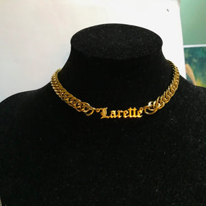 Personalized Cuban Chain Choker