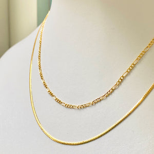 "Dainty Figaro Necklace - 16""/20"""