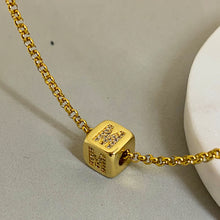 Load image into Gallery viewer, Cube Letter Diamond Necklace