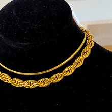 Load image into Gallery viewer, Gold Cord Necklace