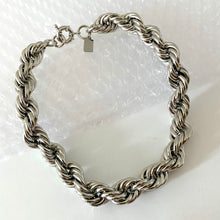 Load image into Gallery viewer, Mega Rope Necklace - Silver