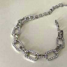 Load image into Gallery viewer, Cable Diamond Bracelet - Silver