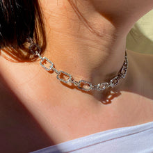 Load image into Gallery viewer, Cable Diamond Necklace - Silver