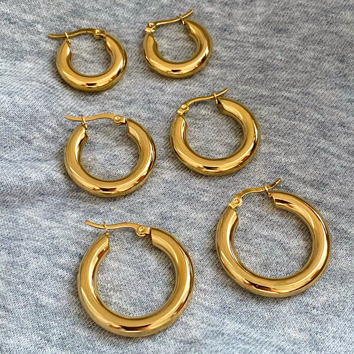 Plain Thick Hoops