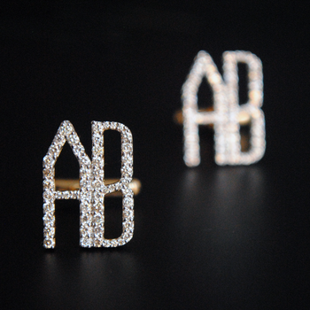 Personalised Gold and Diamond Initial Cufflinks-Abhika Jewels
