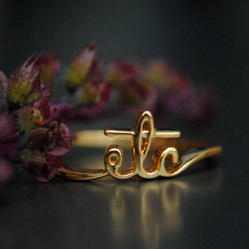 Initial Name Ring in 14K Gold (LR556)