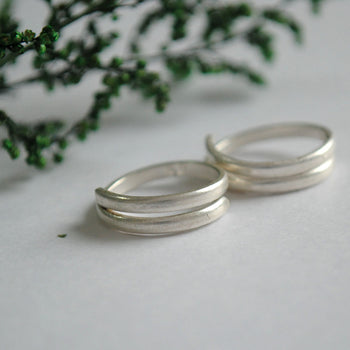 Sterling Silver Toe Ring. Spiral Coil Plain Toe Ring. (STR003)