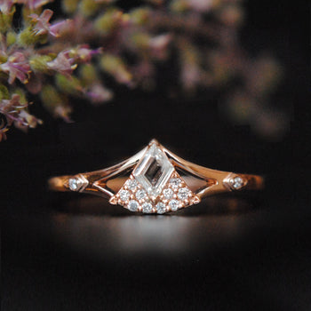 Kite Baguette Diamond Illusion Set Ring-Abhika Jewels