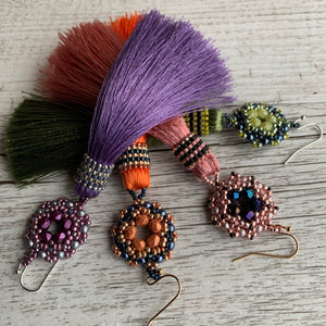 Dahlia Tassel Earrings