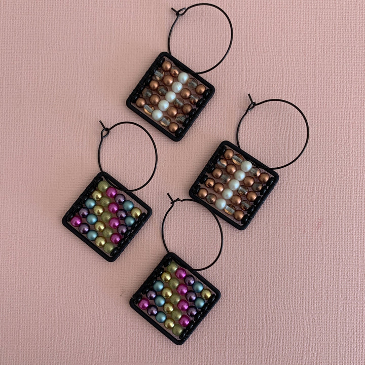 Abacus Earrings - On A String