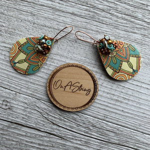 Aztec Vintage Print Earrings - On A String