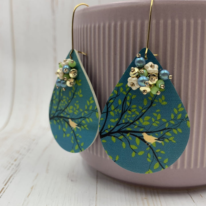 Bird in a Tree Earrings - On A String