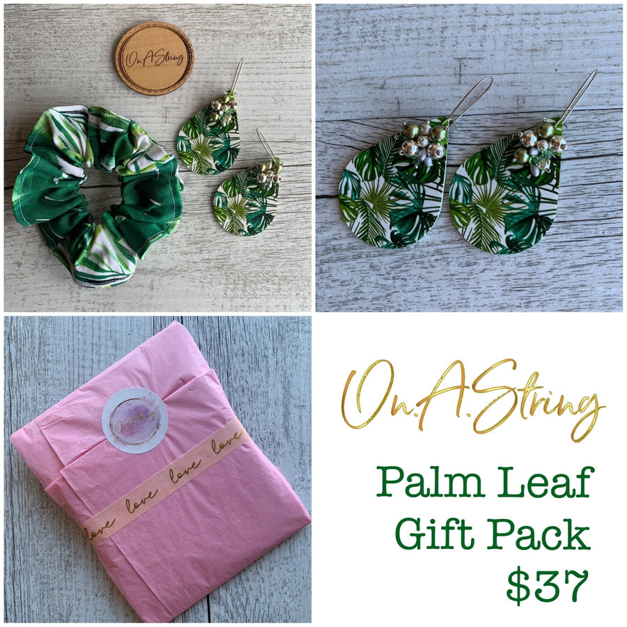 Bold Leopard Earrings & Scrunchie Gift Pack - On A String