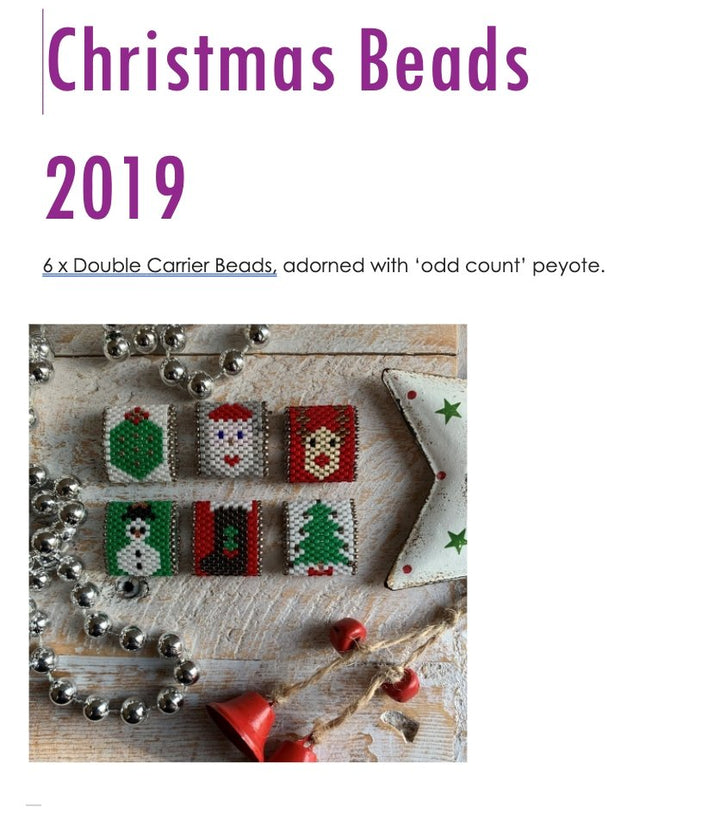 Christmas Beads 2019 Tutorial - On A String