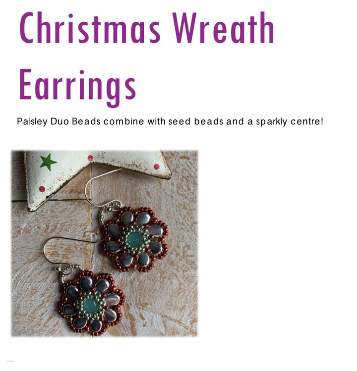 Christmas Earrings - FREE Tutorial - On A String