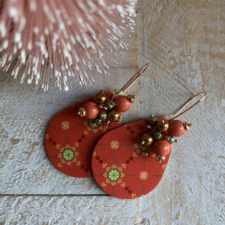 Christmas Sweater Print Earrings - On A String