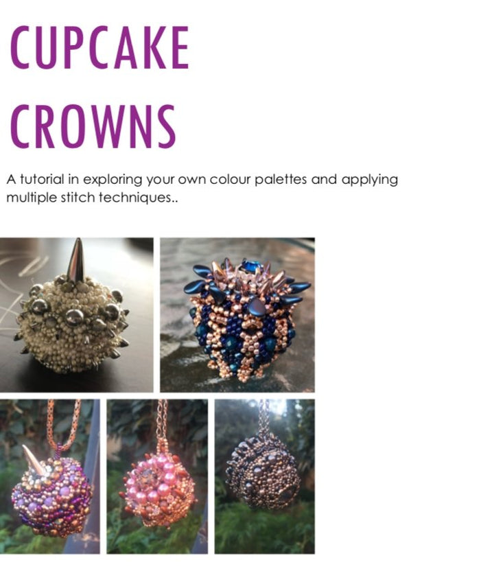 Cupcake Crown Pendant Tutorial - On A String