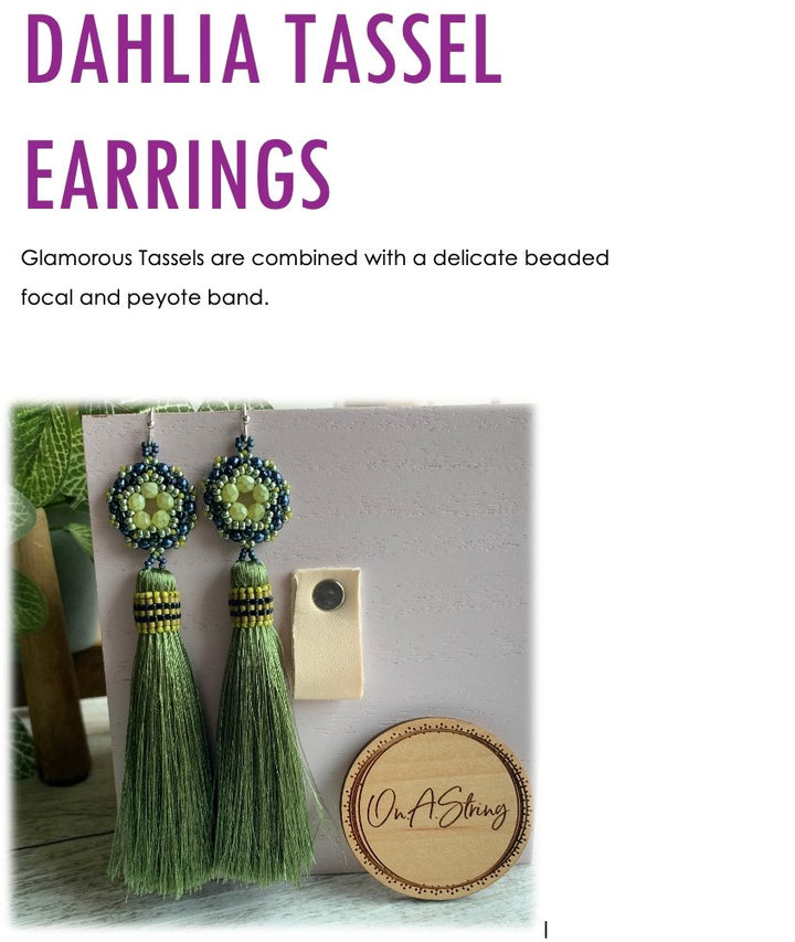 Dahlia Tassel Earring Tutorial - On A String