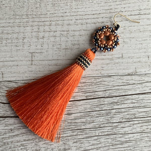 Dahlia Tassel Earrings - On A String